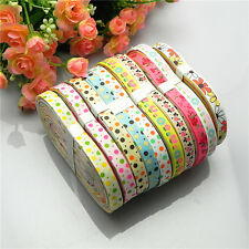 """20yards 3/8"""" mixed 10 Style sewing satin grosgrain ribbon lot wholesale A  40"""