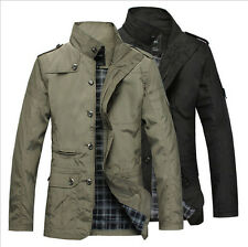 6072 New Men's Jacket Coat Slim Clothes Spring/Autumn Overcoat Casual Outerwear