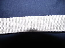 Rag Rug finishing or binding tape - in white.  - Polyester 20mm - very strong