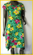 New  WHITE STUFF Green Floral Cotton Dress RRP £55 8 10 12 14 16 18