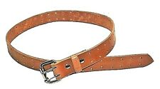 BELT WITH DOUBLE TONGUE CUSTOM MADE HANDCRAFTED LEATHER  BUCKLE AND DOUBLE HOLES