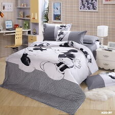 Cartoon Mickey Mouse King Queen Full Duvet/Quilt Cover Bed Sets 100% Cotton New