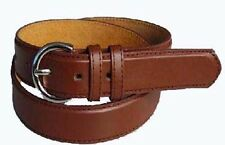 "5549 - 1.25"" WIDE LIGHT BROWN LEATHER DRESS BELT FOR LADIES & FREE US SHIPPING"
