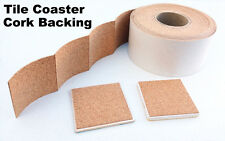 Cork Backing With Adhesive For Tile Coasters - 25 pieces