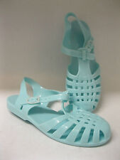 Spot on ladies jelly shoes. Turquoise synthetic. F0711.
