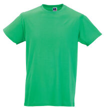 New Russell Mens Longer Length Slim Fit Gents Wear Short Sleeves Cotton T-Shirts