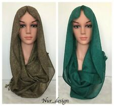 Shimmer Glittery Sparkle Party Wedding Formal Viscose Scarf Hijab  70x23 inch.