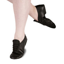 Jazz Shoes Full Sole Split Sole Modern Dance Jazz Shoes Black Leather