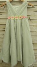 MONSOON GIRLS PRETTY SPECIAL OCCASION FLOWER DRESS LIGHT GREEN NEW! AGES 3-13