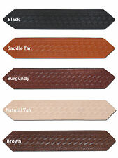 "New Barsony 1 3/4"" (1.75"") Basketweave Leather Belts for Sizes 54"" - 62"""