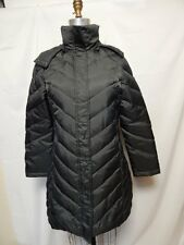 Kenneth Cole Reaction Hooded Faux-Fur-Trim Down Puffer Coat S Carbon NWT