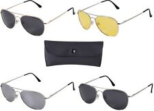 Military Aviator Pilot Sunglasses AF & NAVY Style Polarized Sunglasses w/Case #2