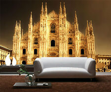 Milan Cathedral Church Italy 3D Full Wall Mural Photo Wallpaper Home Decal Kids