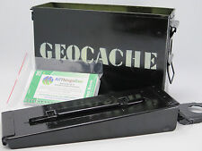 Ammo Box 30 Cal Geocache Container Ready To Hide Ex-Military Stealth Black