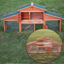 ROME LARGE RABBIT HUTCH WITH RUN PET ANIMAL HOUSE BUNNY AND FERRET GUINEA PIG