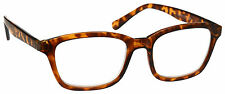 UV Reader Reading Glasses Mens Womens Large Designer Style Brown Tortoiseshell