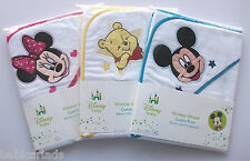 Disney Minnie Mickey Mouse Pooh hooded towel cuddle robe baby boy girl unisex