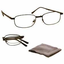 UV Reader Fold-Up Reading Glasses Mens Womens Black UVFR034