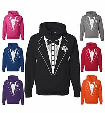 Tuxedo Sweatshirt Funny Wedding Prom Bachelor Party Hoodie Groom Gift Costume