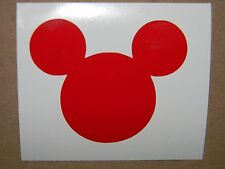 Mickey Mouse Head Vinyl Decal Sticker Choose your Color and Size