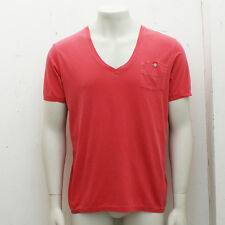 NEW Closed Washed Red V-Neck T-Shirt GENUINE RRP: £65 BNWT