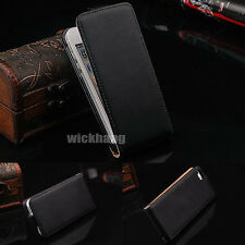 Genuine Real Leather Slim Flip Case Cover Pouch For All Samsung Galaxy Phone