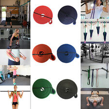 Resistance Bands Yoga Stretch Fitness Strength Exercise Gym Bands Free Shipping!