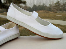 New Flat Womens Shoes White Canvas Cute Work Dance Shoes Comfortable Nurse Shoes