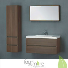 High quality Bathroom furniture from Genuine wood with Mine RAL Cast Wash basin