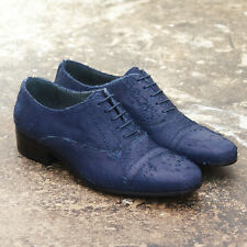NEW Lanvin Blue Distressed Leather Lace Up Shoes GENUINE RRP: £510 BNIB