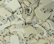 ♥ Sheet Music TABLE CONFETTI ~ 300 hearts either WHITE IVORY CREAM or VINTAGE