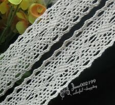 5/10Y embroidered cotton trimming appliques wedding decor craft RG022
