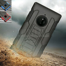 Rugged Hybrid Protective Rubber Case Cover Stand Holster For Nokia Lumia 830