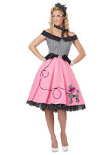 LADIES WOMAN ROCK AND ROLL 1950'S GREASE DRESS PINK LADY COSTUME 6 8 10 12 14 16