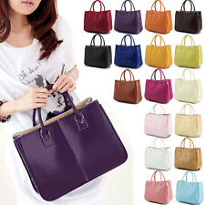 Fashion Womens Womens PU Leather Shoulder Bag Boho Tote Handbag