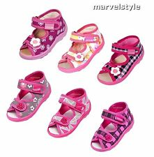 BABY GIRLS SANDALS / CANVAS SHOES UK SIZE 3 - 9.5 / EUR 19-27 - Superb Quality!
