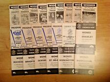 Widnes Rugby League Programmes 1962 - 2005
