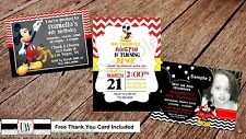 Mickey Mouse Invitation with Free Thank You Card (Digital Files Only)
