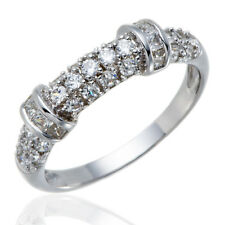Simulated Diamond Solid 925 Sterling Silver Band Ring Engagement Wedding Bridal