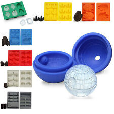 Chocolate Cookies Barking Mould DIY Tool Silicone Star Wars Ice Cube Mold Tray