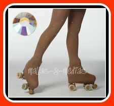 OVER THE BOOT ICE ROLLER SKATING TIGHTS + DMC GRADE A CRYSTALS AB COLOUR ALL SZS