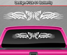 #128-01 BUTTERFLY Rear Window Decal Sticker Vinyl Graphic Celtic Knot Car SUV