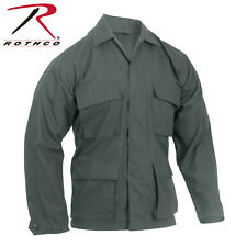 Olive Drab Green Military Tactical 100% Cot Rip-Stop Fatigue BDU Shirt 5852