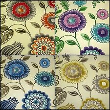 SMD Seralio Floral Cotton Designer Curtain Fabric Roll -142 cm Wide - m