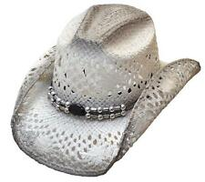 Women's Cowboy Hat Cowgirl Ranch Rodeo Womens Western Wear Clothing White Straw