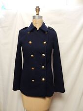 Rachel Roy Double Breasted Military Pea Coat XS Navy New with Tags