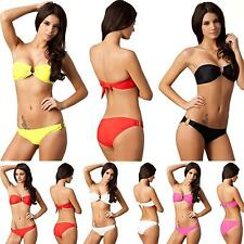 New Ring Design Sexy Women Bikini Push-up Padded Bra Separates Swimsuit Swimwear