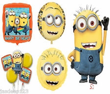 Despicable Me Minions Foil Balloons Birthday Party Decorations Boy Girl Helium T
