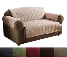 Quality Polyester Microfiber Quilted Loveseat & Sofa Protector Cover Set 6 Color