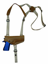 NEW Barsony Olive Drab Leather Shoulder Holster CZ, EAA, FEG Full Size 9mm HOR